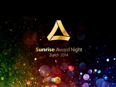 Einladung Glamour Party, Sunrise Award Night, Event Design von EightyNine, Agentur für Corporate Design und Grafik in St. Gallen, Schweiz