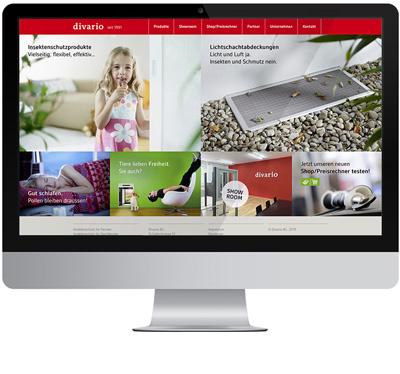 Responsive Webseite für divario Insektenschutz von EightyNine, Agentur für Corporate Design und Grafik in St. Gallen, Schweiz