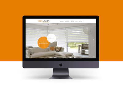 Responsive Webseite SignVision von EightyNine, Agentur für Corporate Design und Grafik in St. Gallen, Schweiz